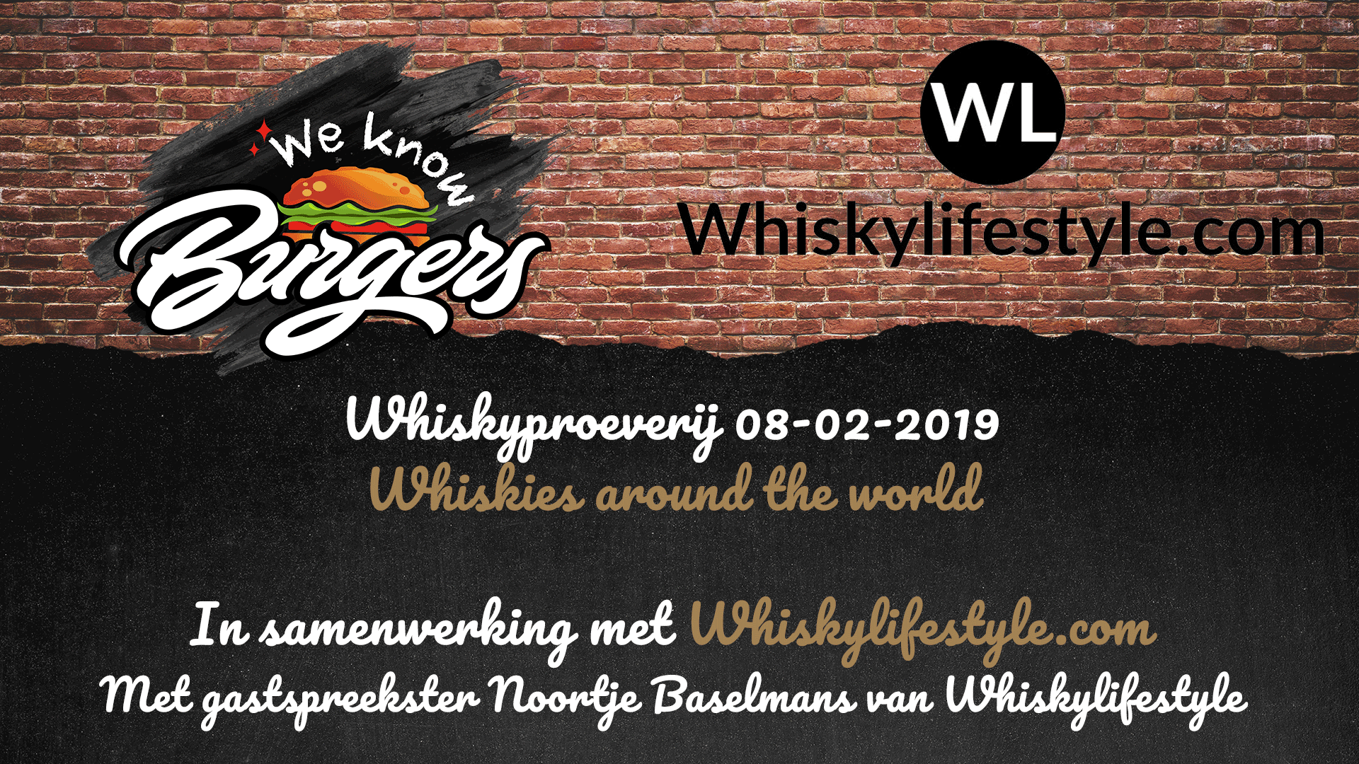 Whiskyproeverij we know burgers veldhoven